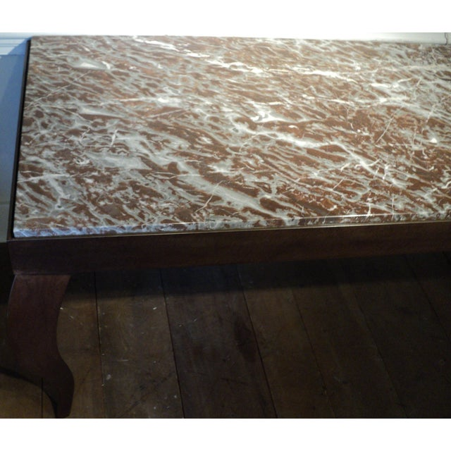 Custom Designed Metal & Marble Console Hall Table - Image 9 of 11