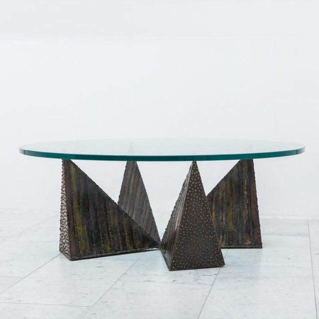 Metal Paul Evans, Welded Steel Coffee Table, USA, 1970s For Sale - Image 7 of 7