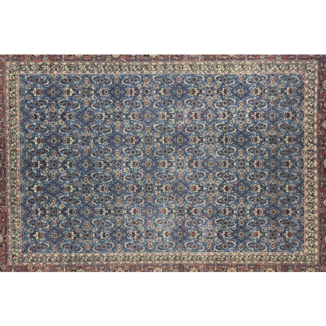 Finely woven antique Tabriz Haji Jalili Rug In 1900's. The style of handmade Tabriz rugs comes from the city of Tabriz in...