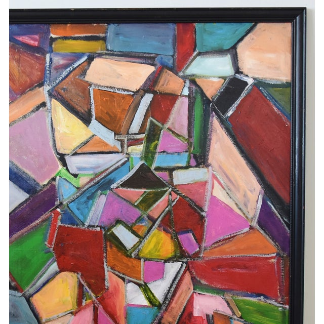 Juan Pepe Guzman Colorful Abstract Oil Painting For Sale - Image 4 of 9