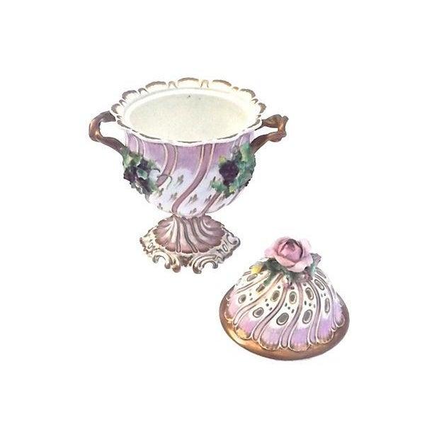 Antique Porcelain Potpourri Compote - Image 3 of 4