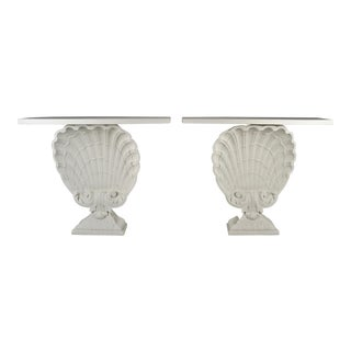Grosfeld House Shell Console Pair, Usa, 1950s For Sale