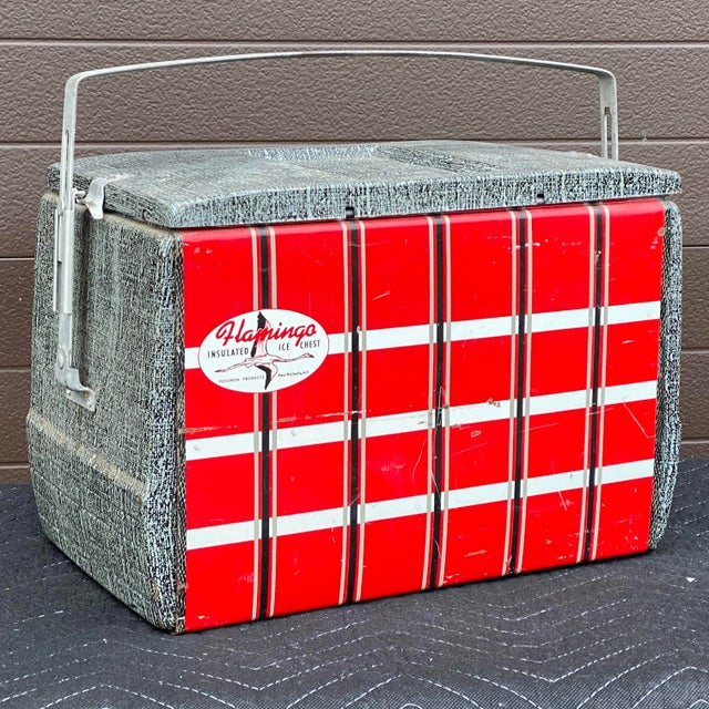 1950s Flamingo Insulated Ice Chest Cooler For Sale - Image 10 of 13