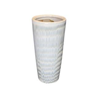 Gray Glazed Stoneware Vase