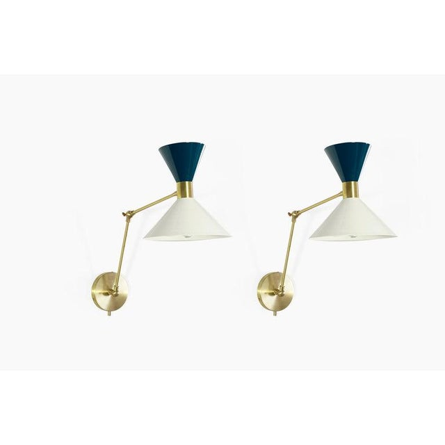 "Mid-Century Modern ""Monarch"" Wall Sconces - a Pair For Sale - Image 3 of 12"