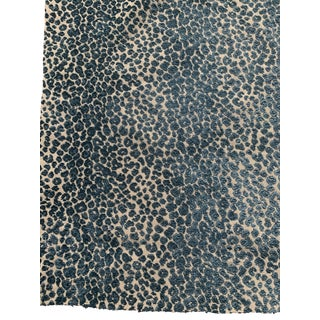 Cowtan & Tout Blue Leopard Cut Velvet Fabric For Sale