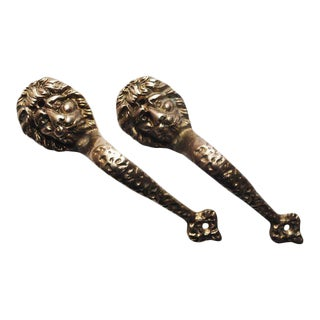 Vintage Brass Door Handles - a Pair For Sale