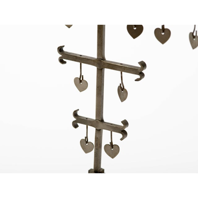 Swedish 1960s Steel Hearts Candelabra For Sale In New York - Image 6 of 10