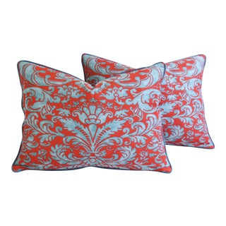 Italian Mariano Fortuny Caravaggio Feather/Down Pillows - Pair For Sale