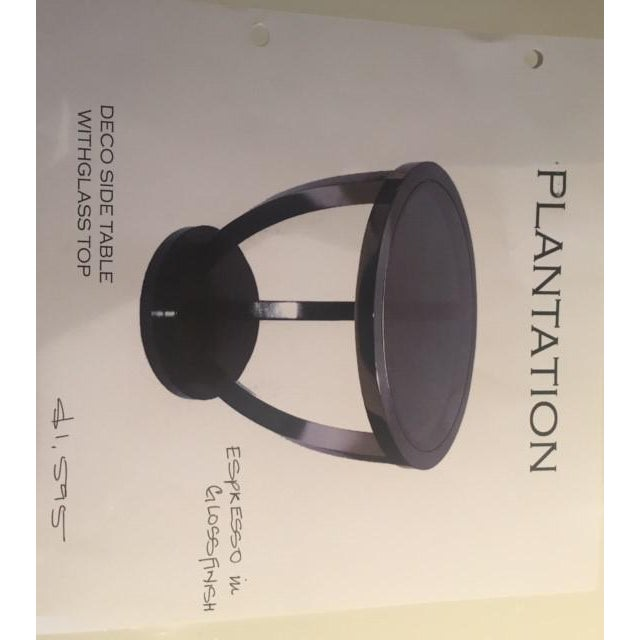 Plantation Design Brown Deco Side Table For Sale - Image 4 of 8