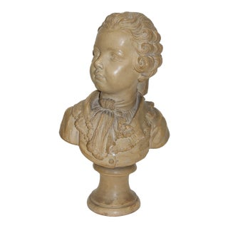 Grand Tour 19c European Young Prodigy Mozart Terra Cotta Bust For Sale