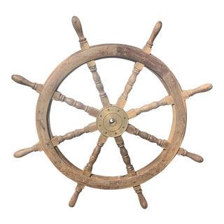 Vintage Nautical Ships Wheel