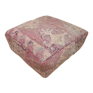 Moroccan Unstuffed Mauve Pouf Cover For Sale