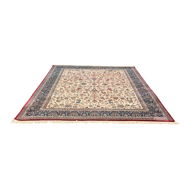 """Persian Floral Pattern Rug - 9'2"""" x 13'4"""" - Image 1 of 7"""