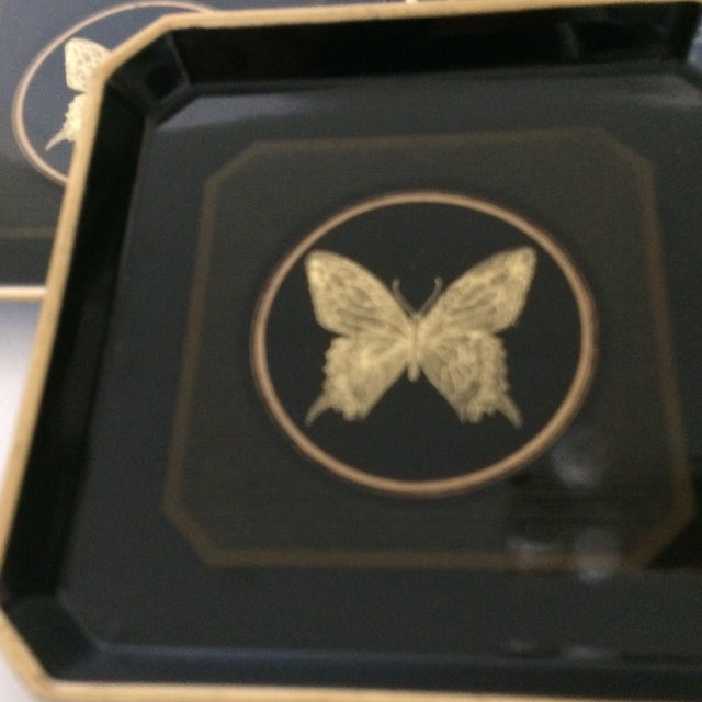 Papillon Otagiri Butterfly Coasters - Set of 6 For Sale - Image 9 of 11