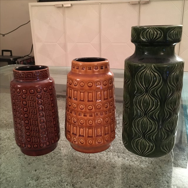 West Germany Pottery Collection - Set of 3 - Image 2 of 8