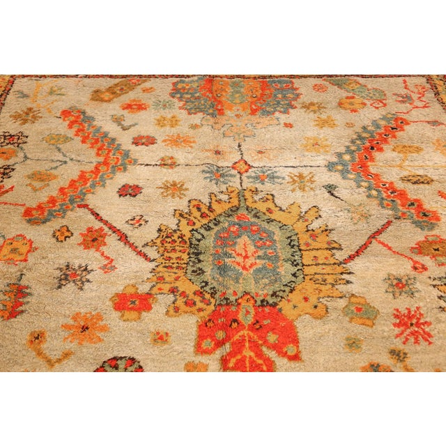 Red Antique Turkish Arts & Crafts Oushak Rug - 8′4″ × 17′3″ For Sale - Image 8 of 11
