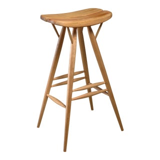 Rare Ilmari Tapiovaara blond bar stool, Finland, 1950s For Sale