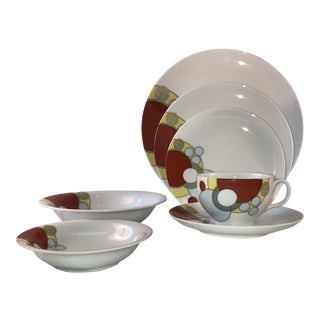 Frank Lloyd Wright Art Deco 7-Piece Place Setting Dinnerware - Two (2) Place Settings For Sale