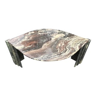 Italian Sculptural Marble Coffee Table For Sale
