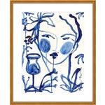 "Medium ""Flowers & Wine Indigo"" Print by Leslie Weaver, 25"" X 31"""