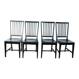 Crate&Barrel Village Bruno Dining Chairs - Set of 4 For Sale