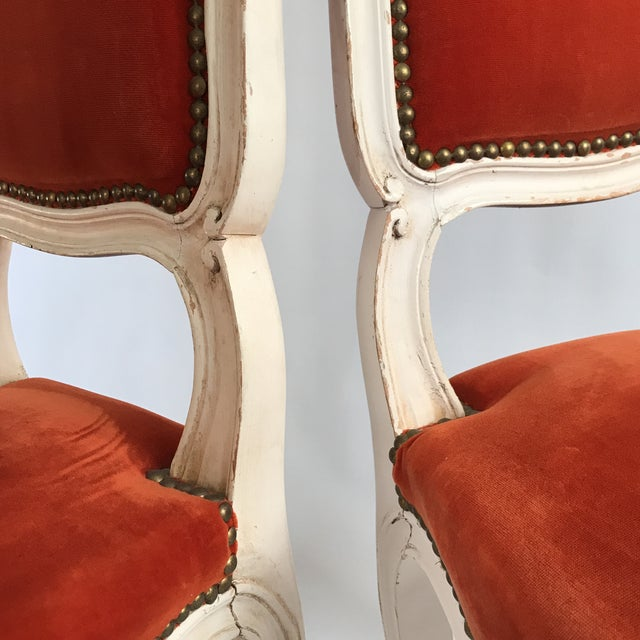 Lacquered Italian Hall Chairs - a Pair For Sale - Image 9 of 11