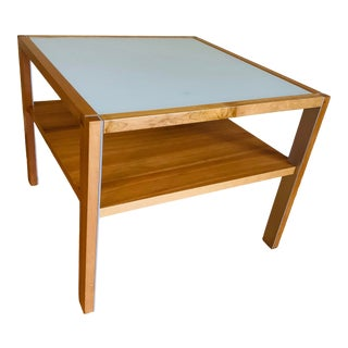 Danish Modern Gangso Frosted Glass Coffee Table For Sale