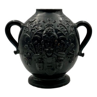 Late 19th Century Spanish Pottery Vase For Sale