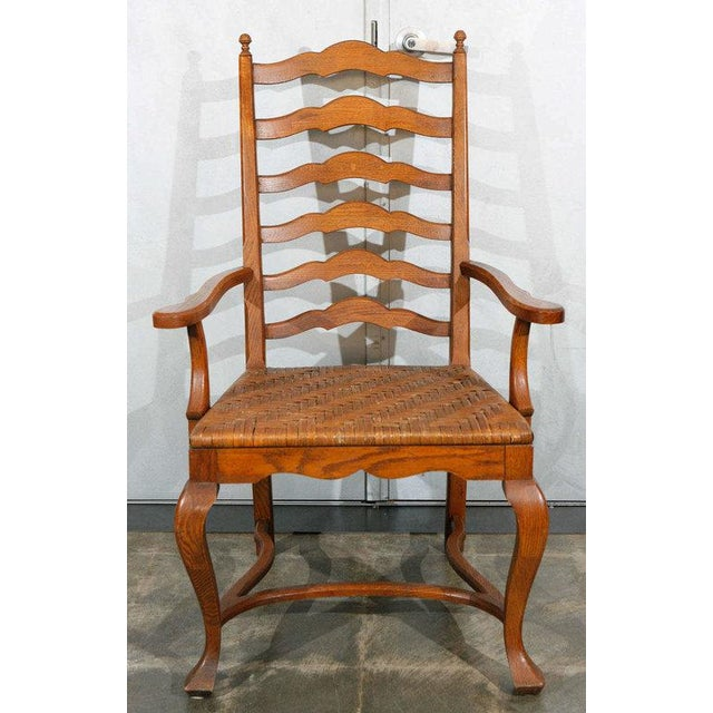 Ladder Back Dining Chairs - Set of 6 For Sale In Los Angeles - Image 6 of 9