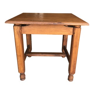 Vintage Asian Teak Wood Side Table For Sale