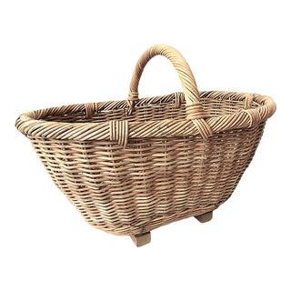Primitive French Market Basket For Sale