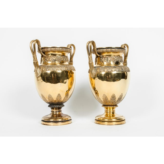 Gold Old English Bronze Decorative Vases For Sale - Image 8 of 13
