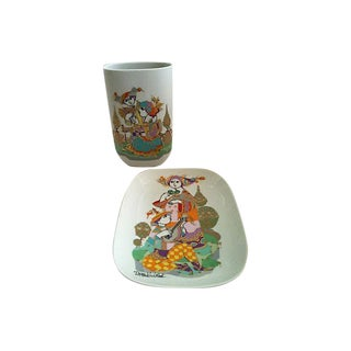Bjørn Wiinblad Vase & Bowl - A Pair For Sale