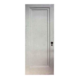 Antique White Single Panel Oak Apartment Door