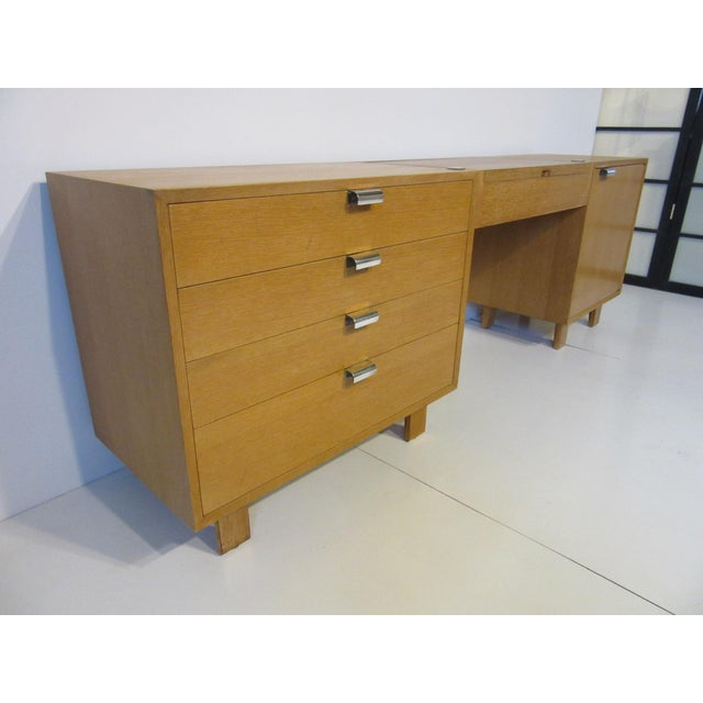 Contemporary George Nelson for Herman Miller Oak 3 Pc. Vanity Chest Set For Sale - Image 3 of 13