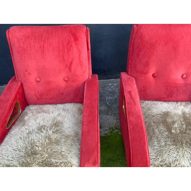 1950s Pair of Exuberant Maurice Mourra Mid-Century Chairs For Sale - Image 5 of 8