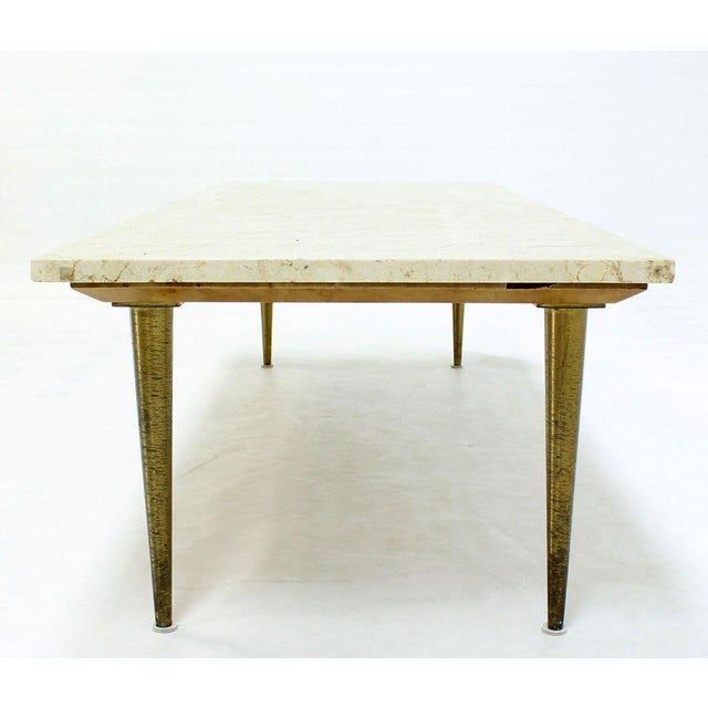 Lacquer Mid-Century Modern Marble Coffee Table For Sale - Image 7 of 8