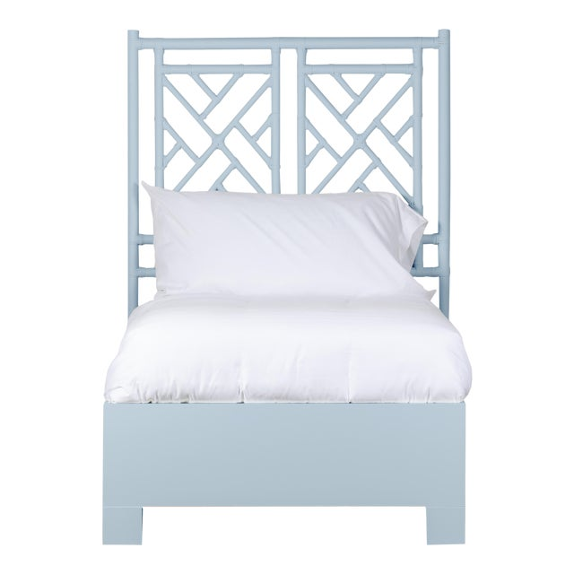 Chippendale Bed Twin Extra Long - Blue For Sale