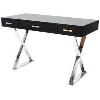Chrome Base X-Desk For Sale