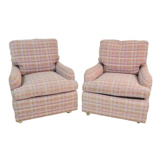Heirloom Upholstered Lounge Chairs - a Pair For Sale