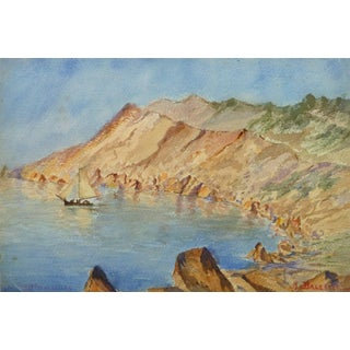 M. Balestié, Vintage Watercolor Landscape - Les Goules For Sale