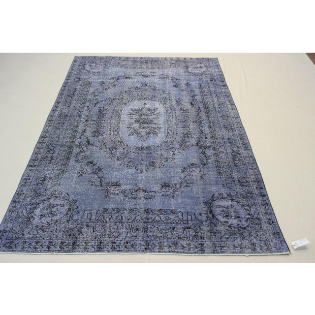 Islamic Turkish Overdyed Rug - 6′5″ × 9′9″ For Sale - Image 3 of 9