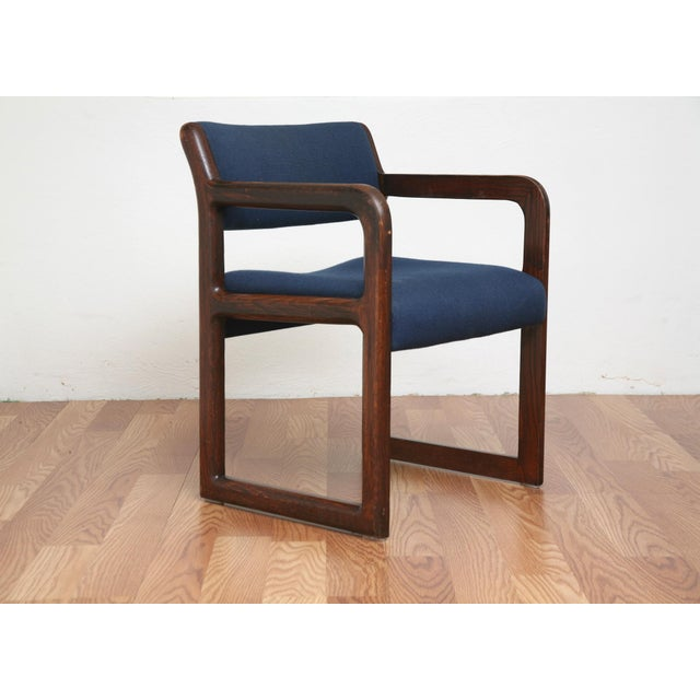 Vintage 1970s Mid-Century Modern Wooden Chair For Sale - Image 11 of 11