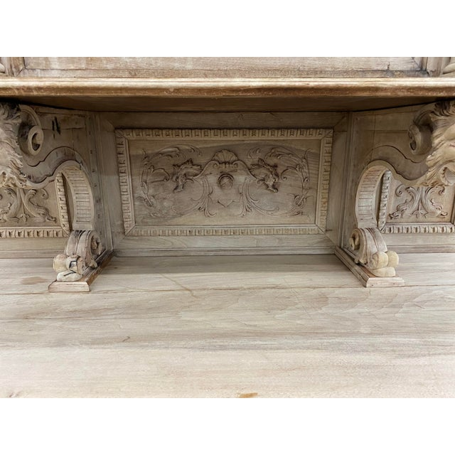 19th Century French Renaissance Bleached Walnut Cabinet For Sale - Image 10 of 13