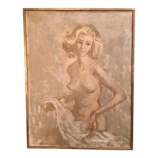 1960s Vintage Nathan Wasserberger Nude Oil Painting For Sale