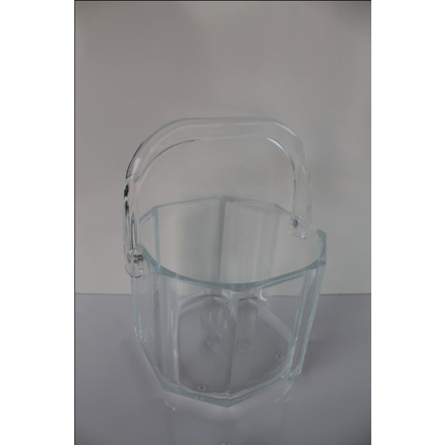 Albrizzi Style Mid-Century Lucite Ice Bucket - Image 5 of 9