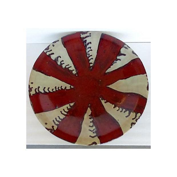 Glazed Pottery Bowl/Plate Centerpiece - Image 3 of 7