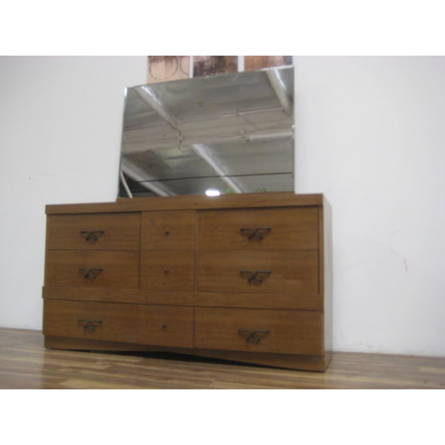 Mid Century Modern Dresser With Vanity Mirror - Image 5 of 9