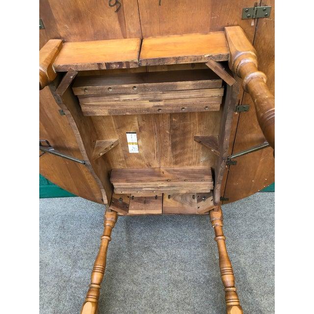 Burnt Umber Vintage Sibley Lindsay & Curr Co. Drop Leaf Kitchen Table For Sale - Image 8 of 13